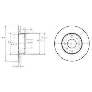 Диск тормозной DELPHI BG 2313