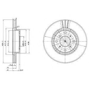 Диск тормозной DELPHI BG2815