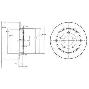 Диск тормозной DELPHI BG2332