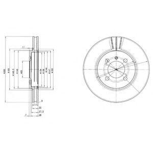 Диск тормозной DELPHI BG2347