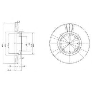 Диск тормозной DELPHI BG2394
