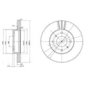 Диск тормозной DELPHI BG2567