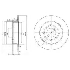 Диск тормозной DELPHI BG2633