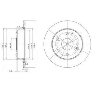 Диск тормозной DELPHI BG 2666