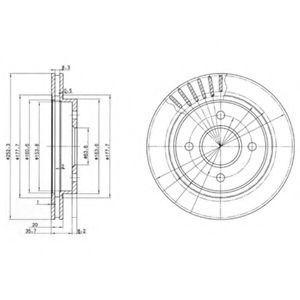Диск тормозной DELPHI BG 2700