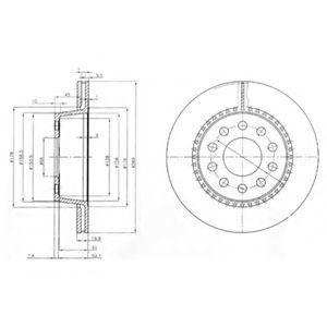 Диск тормозной DELPHI BG3029