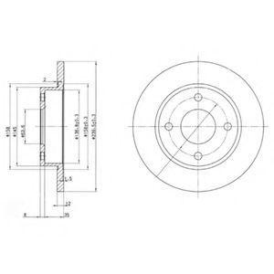Диск тормозной DELPHI BG 3055