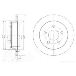 Тормозной диск DELPHI BG3143