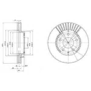 Диск тормозной DELPHI BG 3232