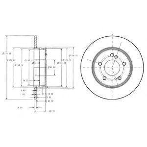 Диск тормозной DELPHI BG3326