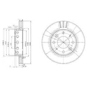 Диск тормозной DELPHI BG3335