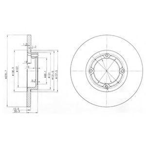 Диск тормозной DELPHI BG 3551