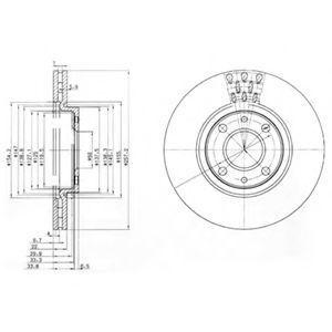 Диск тормозной DELPHI BG 3574