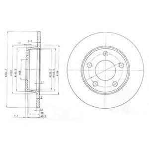 Диск тормозной DELPHI BG3671