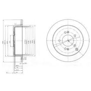 Диск тормозной DELPHI BG 3680