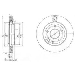 Диск тормозной вентилируемый DELPHI BG3709