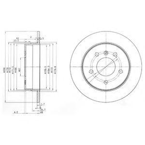 Диск тормозной DELPHI BG 3710