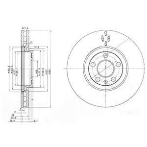 Диск тормозной DELPHI BG3740