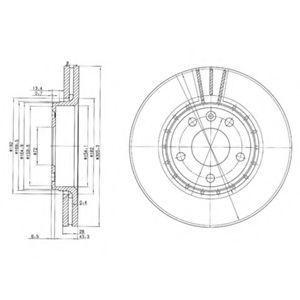 Диск тормозной DELPHI BG 3768