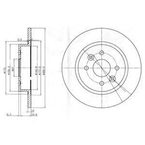 Диск тормозной DELPHI BG3804