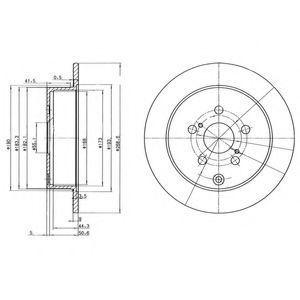 Диск тормозной DELPHI BG3822