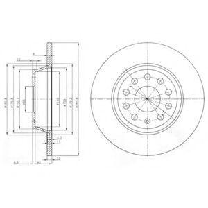 Диск тормозной DELPHI BG 3954