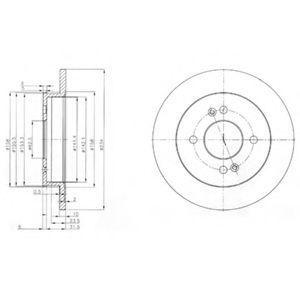 Диск тормозной DELPHI BG 3981