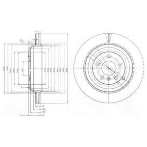 Диск тормозной DELPHI BG4030