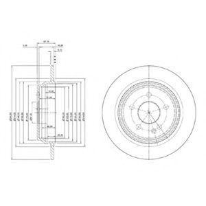 Диск тормозной DELPHI BG 4063