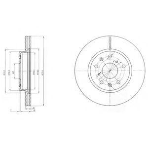 Диск тормозной DELPHI BG 4093