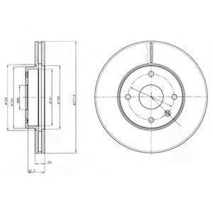 Диск тормозной DELPHI BG4193