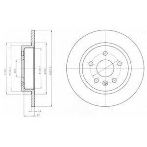 Диск тормозной DELPHI BG4199