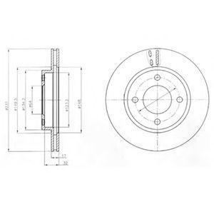 Тормозной диск DELPHI BG4299