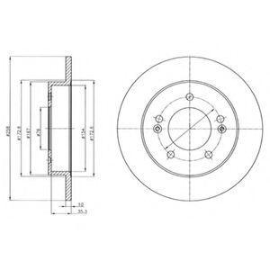 Диск тормозной DELPHI BG4310