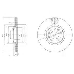 Диск тормозной DELPHI BG4150