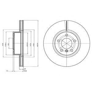 Диск тормозной DELPHI BG9108