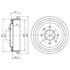 Тормозной барабан DELPHI BF30