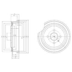 Тормозной барабан DELPHI BF367