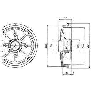Барабан тормозной DELPHI BF484