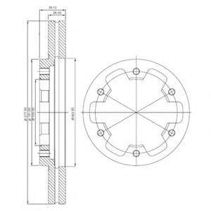 Диск тормозной DELPHI BG3422