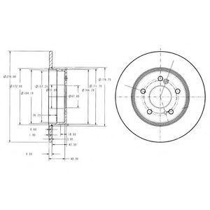 Диск тормозной DELPHI BG3326C