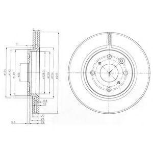 Диск тормозной DELPHI BG3976C