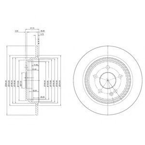 Диск тормозной DELPHI BG4063C