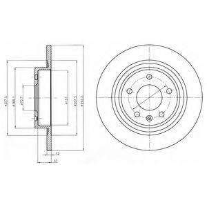 Диск тормозной DELPHI BG4279C
