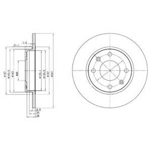 Диск тормозной DELPHI BG 2213