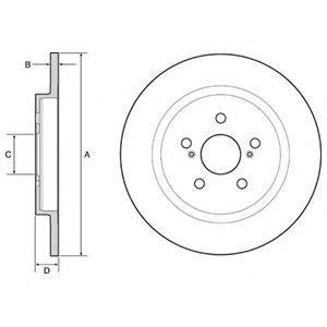 Диск тормозной DELPHI BG4650C