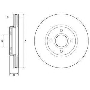 Диск тормозной DELPHI BG4569C