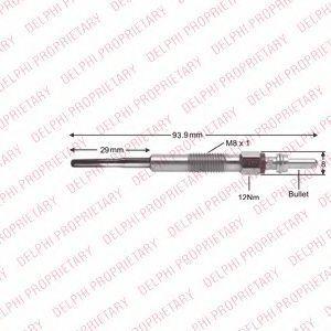 Свеча накаливания DELPHI HDS426
