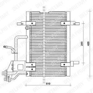 Конденсор кондиционера DELPHI TSP0225011