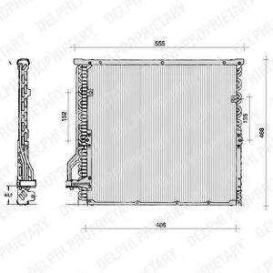 Радиатор кондиционера DELPHI TSP0225014